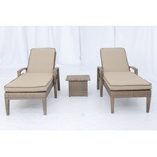 <strong>Creative Living</strong> Ferrara 3 Piece Chaise Lounge Set with Cushions