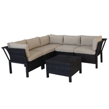 Napa 7 Piece Sectional Deep Seating Group with Cushions