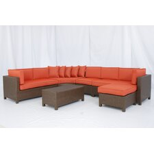 <strong>Creative Living</strong> Salinas 6 Piece Sectional Deep Seating Group with Cushions
