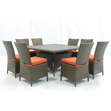 <strong>Creative Living</strong> Salinas 9 Piece Dining Set with Cushions