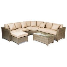 Tahiti 5 Piece Sectional Seating Group with Cushions