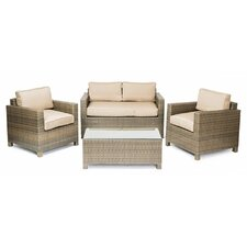 Tahiti 4 Piece Conversation Group with Cushions