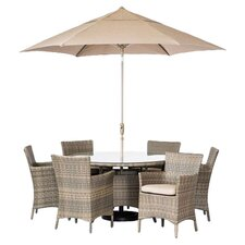 Tahiti 7 Piece Dining Set with Cushions