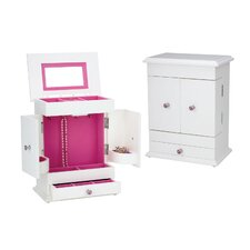 Bella Jewelry Chest in White