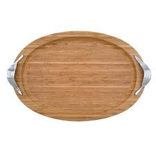Serveware and Gifts Bamboo Garden Large Oval Bamboo Tray
