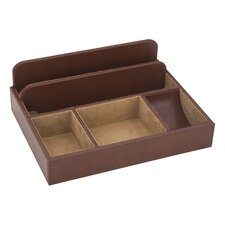 James Mans Valets and Storage in Brown Bonded Leather / Buckskin Suede