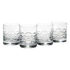 Cove 12 oz. Double Old Fashioned Glass (Set of 4)