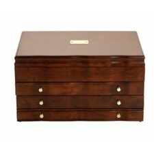 Athena Cherry Jewelry Chest with Blue Lining