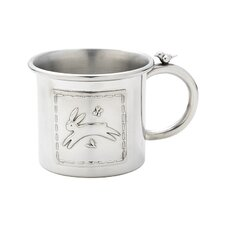 Quilted Rabbit Pewter Baby Cup