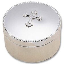 <strong>Reed & Barton</strong> Silver Plated Abbey Round Box