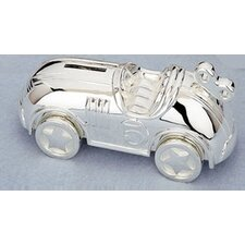 "Children's Giftware 6.75"" Race Car Coin Bank"