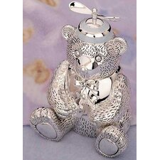 "<strong>Reed & Barton</strong> Children's Giftware 5.13"" Boy Bear with Beanie Bank"