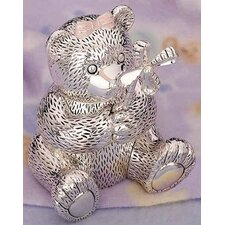 "<strong>Reed & Barton</strong> Children's Giftware 5.13"" Girl Bear with Pinwheel Bank"