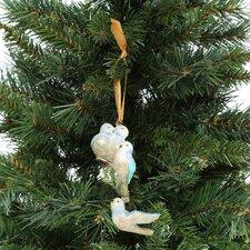Blown Glass Ornaments Four Calling Birds