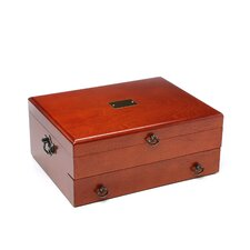 <strong>Reed & Barton</strong> Bristol Cherry Silverware Chest with Brown Lining