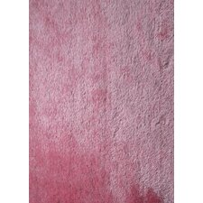 <strong>Rug Factory Plus</strong> Shaggy Viscose Solid Pink Rug