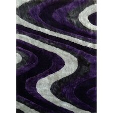 <strong>Rug Factory Plus</strong> Living Shag Purple/Gray Rug