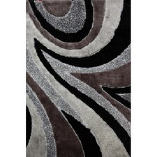 <strong>Rug Factory Plus</strong> Shaggy Viscose Design Gray/Black Rug