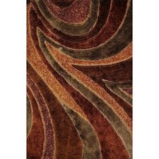 <strong>Rug Factory Plus</strong> Shaggy Viscose Design Brown Rug