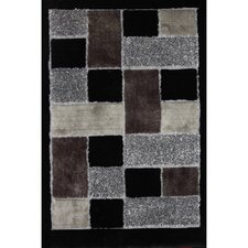 <strong>Rug Factory Plus</strong> Shaggy Viscose Design Black Rug