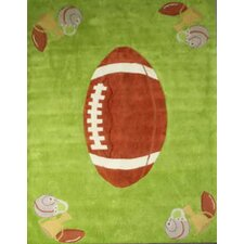 Zoomania Football Light Green Kids Rug