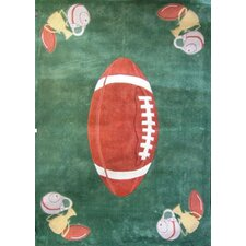 Zoomania Football Dark Green Kids Rug