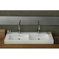 Pinto Rectangle Ceramic Bathroom Sink