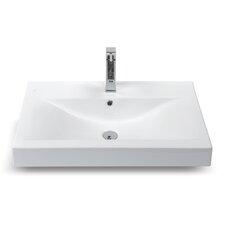 Mona Rectangle Ceramic Bathroom Sink