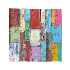 Patchwork Panel Original Painting on Canvas