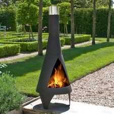 Colorado Chimenea Medium in Matt Black