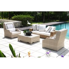 Hancock 4 Piece Deep Seating Group with Cushions