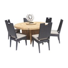 Beverly 7 Piece Dining Set with Cushion