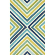 Palm Springs Blue & Green Indoor/Outdoor Area Rug