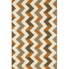 Palm Springs Brown/Orange Indoor/Outdoor Rug