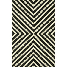 Palm Springs Black/Ivory Indoor/Outdoor Area Rug