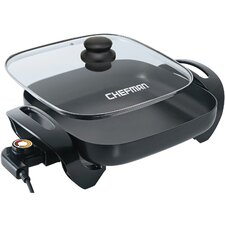"12"" Dishwasher-Safe Electric Skillet with Lid"