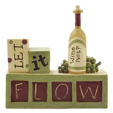 """Let It Flow"" Wine Block"