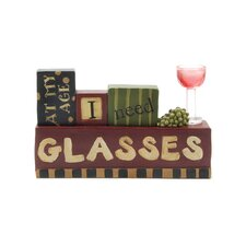 """Need Glasses"" Wine Block"