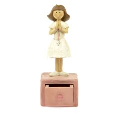 <strong>Blossom Bucket</strong> Girl First Communion Trinket Box