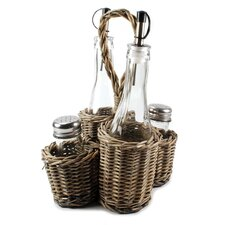 Condiment Wicker Basket