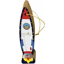 Rocket Ship Hanging Recycled Paper Scratching Post
