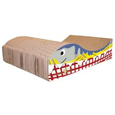 Fish and Chips Recycled Paper Cat Scratching Board