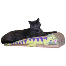 Large Iguana Recycled Paper Cat Scratching Board