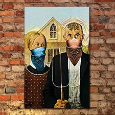 """American Gang Gothic"" Gallery Wrapped Canvas Artwork"