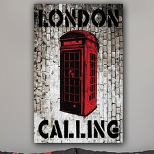 "<strong>Th-Ink Art</strong> ""London Calling"" Gallery Wrapped Canvas Artwork"