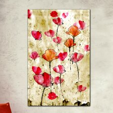 "<strong>Th-Ink Art</strong> ""Engraved Petals"" Gallery Wrapped Canvas Artwork"