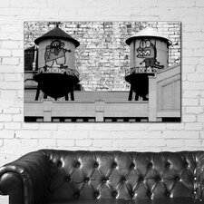 "<strong>Th-Ink Art</strong> ""Monster Chat"" Gallery Wrapped Canvas Artwork"