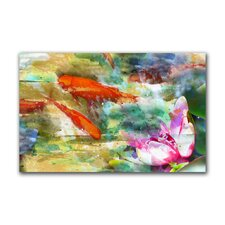 """Float Koi"" Gallery Wrapped Canvas Artwork"