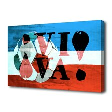 """Viva Soccer"" Graphic Art on Canvas"