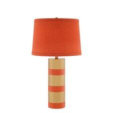"3-Way 29"" Striped Ceramic Table Lamp"